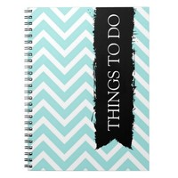 Light Blue Chevron Things To Do Notebooks
