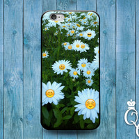 iPhone 4 4s 5 5s 5c 6 6s plus iPod Touch 4th 5th 6th Gen Custom Phone Case Funny Flower Smiley Face Cute Girly Cover Fun Sweet Adorable Cool