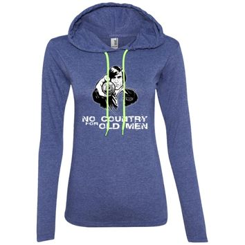 No-COUNTRY-for-old-men-PIC 887L Anvil Ladies' LS T-Shirt Hoodie