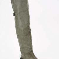 Ecote Back-Buckle Over-The-Knee Boot  - Urban Outfitters