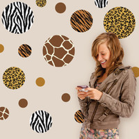 Animal Print Dot Wall Decals