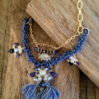 Lace Up Statement Necklace
