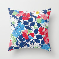 Vera Bradley - Mulitcolor Floral Throw Pillow by PinkBerryPatterns