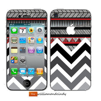 Iphone 5 4 4s Skin Cover- Chevron Pattern