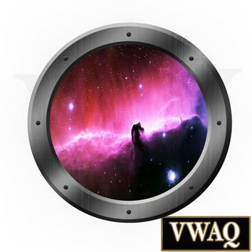 Galaxy Porthole Window Decal Space Ship Outer Space Kids Room Graphics Sticker Wall Art  VWAQ® PS10