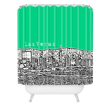 Bird Ave Las Vegas Green Shower Curtain