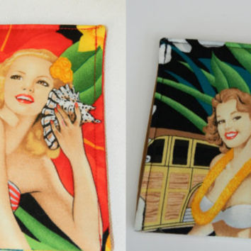 Tropical Pin Ups Phone Cozy Sleeve Case for Ipod or Iphone Your choice of One