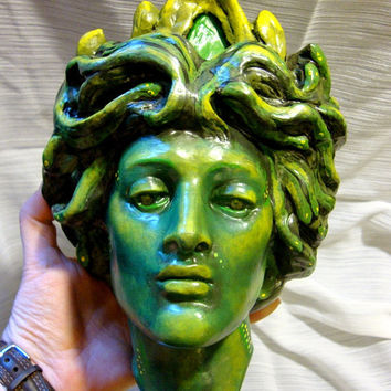 Medusa Upcycled Vintage Wall Art by CherryBerryVintage on Etsy