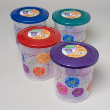 Food Storage Container Decorated 3 Designs 3Qt