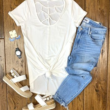 Ivory Caged Tee