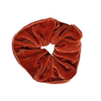 VONE05F Velvet Goldmine Scrunchie - Rust Day First