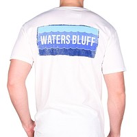 Wave Tee Shirt in White by Waters Bluff