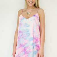 Watercolor Spaghetti Strap Dress