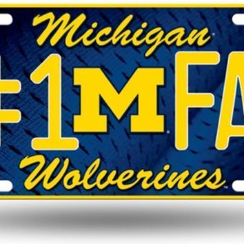 NCAA -  Michigan Wolverines 1 Fan License Plate Tag