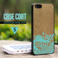 iPhone 5 Case  Seawave Fish iPhone Case Wood iPhone by CaseCoat