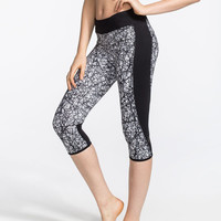 Hurley Nike Dri-Fit Womens Crop Leggings Black/White  In Sizes