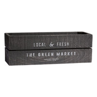 Rectangular Wooden Box - from H&M