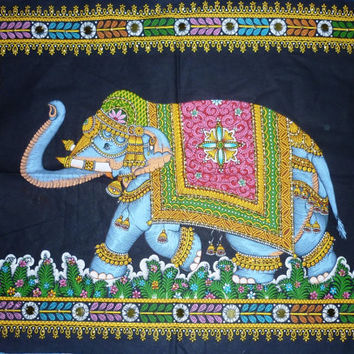 Wall Art wall hanging Elephant Tapestry India Good Luck Strength Home Office Garden Decor Gift