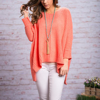 Perfect Weather Sweater, Peach Echo