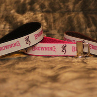 Browning girl camo buckmark key fob
