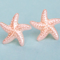 Peach Starfish Earrings 10% of this sale will go to Sea Shepherd Conservation Society