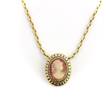 Winard 12kt Gold Filled Cameo Necklace