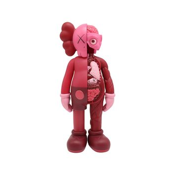 Medicom Toys x KAWS Companion Flayed 2016 Open Editions Vinyl Blush Red Figure