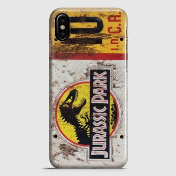 Jurassic Park Jeep License Plate 10 iPhone X Case