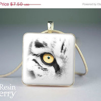 ON SALE: tiger scrabble tile pendant,tiger jewelry pendant,tiger glass pendant- A0268SP
