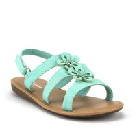 Toddlers Girls Ositos Ankle Strap Gladiator Floral Sandals SEZ-07I Teal