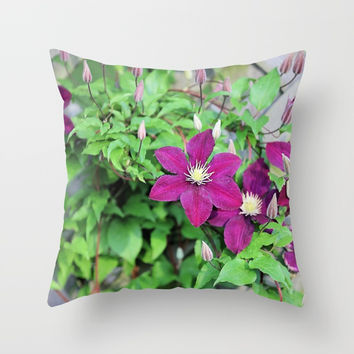 Solstice Flowers Throw Pillow by Theresa Campbell D'August Art