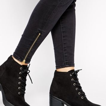 New Look Carnaby Lace Up Heeled Boots