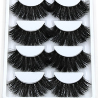 5x pairs Thick Long Mink Eye Lashes