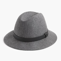 J.Crew Womens Classic Felt Hat With Leather Band