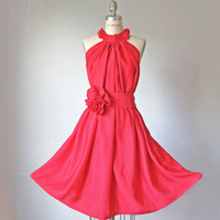 Dress /  Red   / Romantic / Dreamy / Soft  / Sleeveless  / Flowy / Delicate / Bridesmaids / Weeding