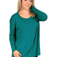 PIKO Teal Love On Top Tunic | Monday Dress Boutique
