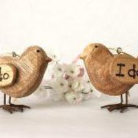 Personalized Wooden Love Bird Pair by LoveNaturally on Etsy