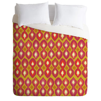 Sharon Turner Party Boardwalk Ikat Duvet Cover