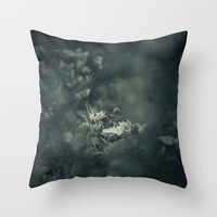 Restlessness Flowers Throw Pillow by Christian Solf