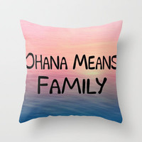 Ohana Throw Pillow by Amy Copp