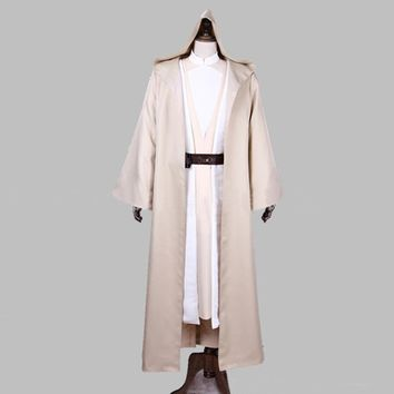 Hot movie Star Wars Skywalker Anakin Jedi Cosplay Costumes White cloak Luke Costume full set