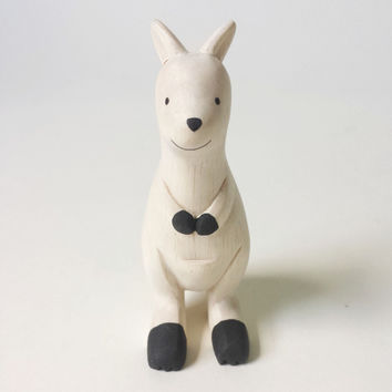 T-Lab Handcarved Wood Kangaroo