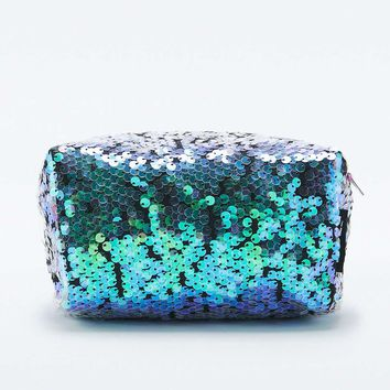 Jaded London Mermaid Sequin Cosmetic Case - Urban Outfitters