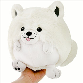 Limited Mini Squishable Smiling Samoyed: An Adorable Fuzzy Plush to Snurfle and Squeeze!