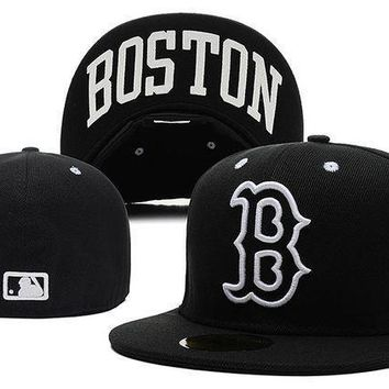 Boston Red Sox New Era Mlb Authentic Collection 59fifty Hats Black White