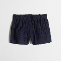 Factory girls' pull-on short in eyelet : pull-on | J.Crew Factory
