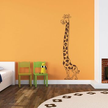 Growing Giraffe Wall Decal