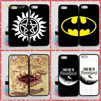 Batman Dark Knight gift Christmas Minason Batman Harry Potter Brain BFF Best Friends Case For Apple iPhone X 8 5S 5 SE 6 6S 7 Plus Supernatural Mandala Case Cover AT_71_6