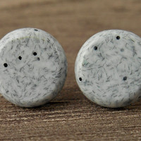 Faux Stone Earrings For Men, Granite Look Earrings, Mens Stud Earrings, Boyfriend Gift, Mens Earrings, Grey Earrings for Men