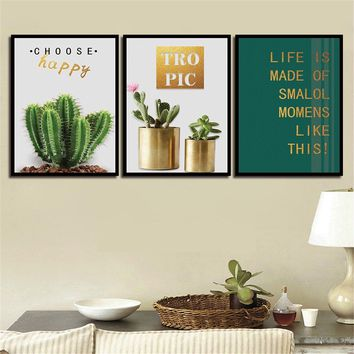 Minimalism HD Wall Art Prints Simple Painting Pictures The Cactus Nordic Poster Canvas Living Room Kids Room Home Decoration